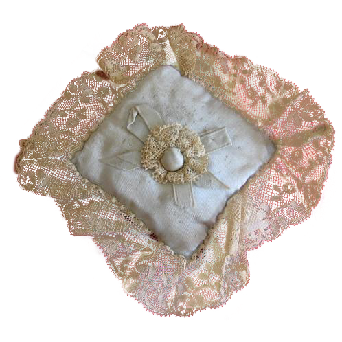 Silk and Lace Sachet Pin Cushion Doll Pillow