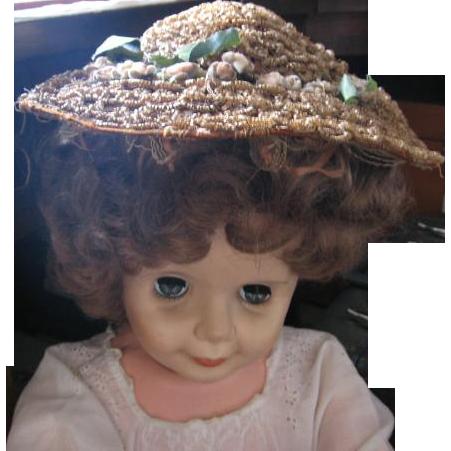Antique Victorian  Bonnet Wire and Curly Straw Bonnet Unique Hat Reenactment Wear?