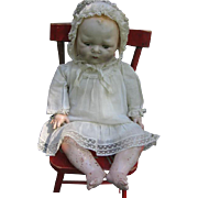 1924 EIH Horsman Tynie Composition and Cloth Baby Doll with Original Dress (Reserved for Laura)