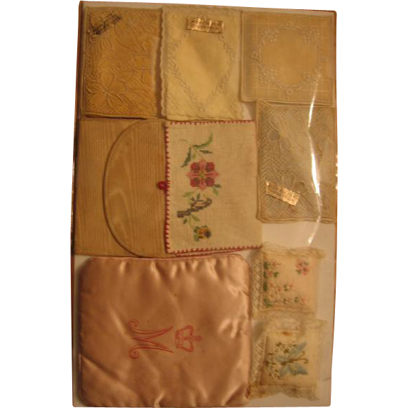 Vintage Lace Sachets or Doll Pillows Handwork Brode Main Collection