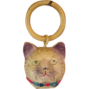 Early Celluloid Cat Rattle
