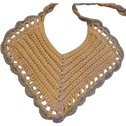 Doll Size Crocheted Bib