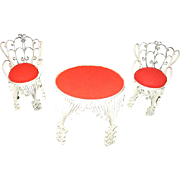 3 Pieces Scrolled Tin Art Doll Furniture