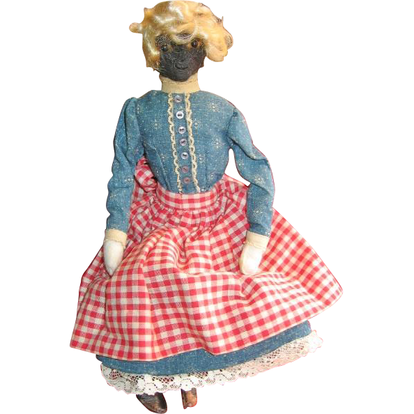 Old Handmade Primitive Black Mammy Doll