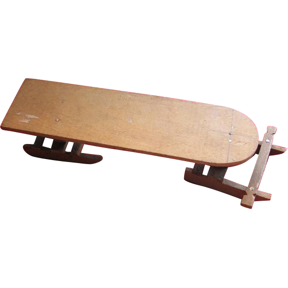 Wooden Cigar Box Art Toy Sled...One of a Kind