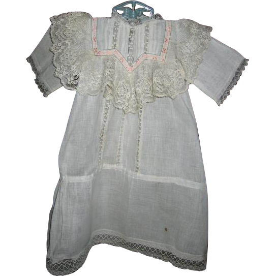 Antique Baby Gown Luscious Lace Bodice and Openwork