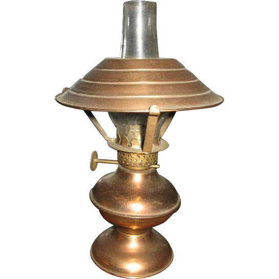 Miniature Copper Oil Lamp Lantern