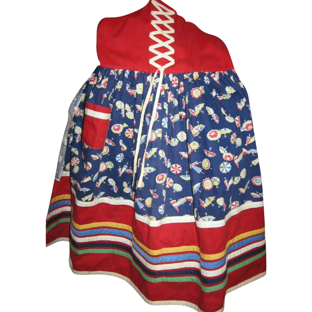 Childs Vintage Pinafore or Apron