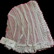Antique Net Lace Baby Bonnet 1886 Doctor Johns Baby Bonnet