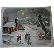 Victorian Lithograph Winter in Wisconsin 1887 Jos Hoover & Son Philadelphia
