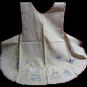 1920s Sun Bonnet Sue Embroidered Childs Apron Herr Estate