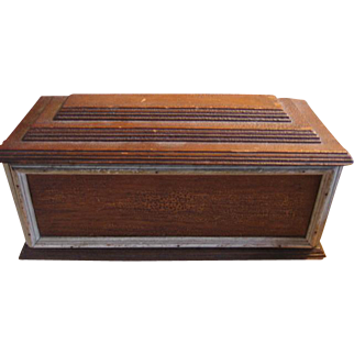 Antique Oak Wood Box with Unique Features One of a Kind