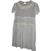 Sheer Net Lace Childs Dress