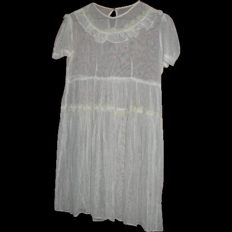 Sheer Net Lace Childs Dress