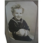 Sailor Suit on Boy Old Photo
