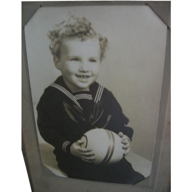 Sailor Suit on Boy Old Photo
