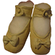 Baby Shoes with Bows Depression or WWII Era