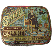 Tin Lithographed Snuff Tin Very Colorful Box