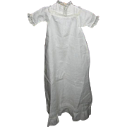 Antique Doll Gown with Lace for German Bisque or Composition Baby Doll