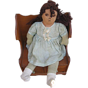 Large Homemade Rag Doll 1930s Era