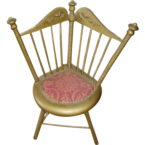 Ornate Doll Corner Chair and Matching Side Chair