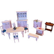 Original Artist Designed and Handmade Dollhouse Furniture by Maine Artisan One of a Kind Pieces