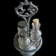 Antique Childs Miniature Glass Cruet Set