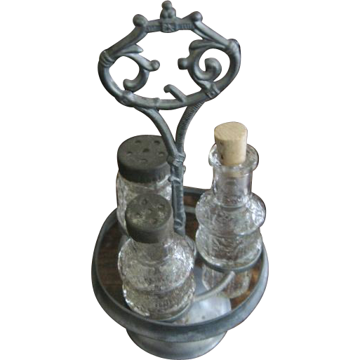 Antique Childs Miniature Glass Cruet Set