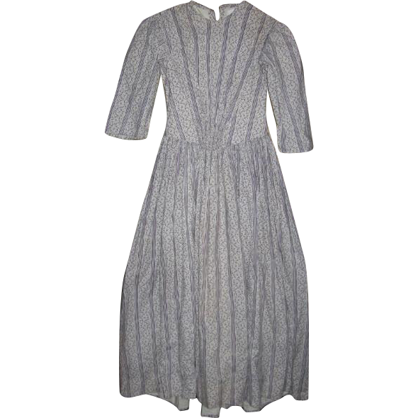 Calico Prairie Dress for Re-Enactment or Collection