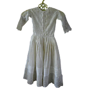 Lovely Doll Dress or Gown with Openwork for Bisque Doll