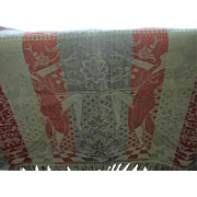 Art Deco Damask Tablecloth with Dancing Ladies