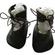 Leather Doll Shoes that Tie