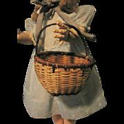 Round Multi Colored Woven Mini Basket