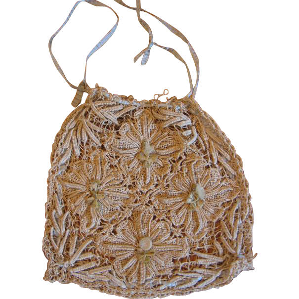 Vintage String Lace Purse