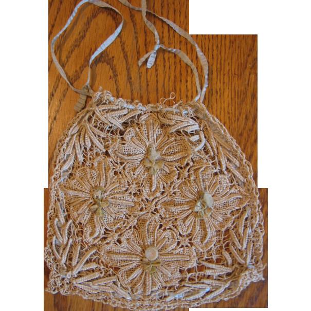 Vintage String Lace Purse