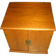 Wooden Cupboard Chest for Doll Clothing