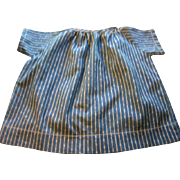 Blue Calico Striped Doll Dress