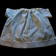 Blue Calico Striped Doll Dress