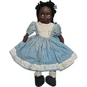 Black Rag Doll with Molded Painted Mask Face