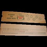 Vintage Canada Dry Advertising Calculator Slide Rule