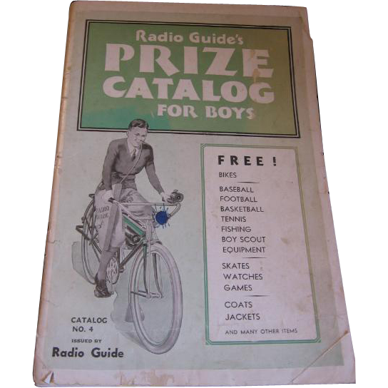 Radio Guide's Prize Catalog for Boys 1930s