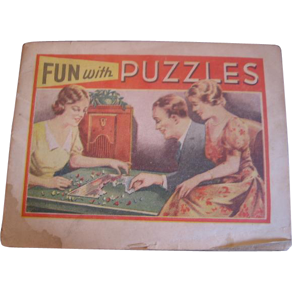 Fun With Puzzles Advertising Booklet 1920s 1930s Era