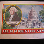 Our Presidents Advertising Giveaway Booklet Washington to FDR