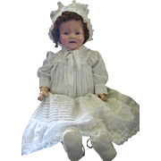 "Big 27"" Tall Cloth Body Tin Eye Baby Mama Doll Marilee?"