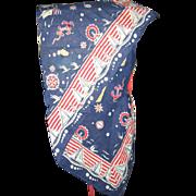 Fantastic Childs Homemade Sun Bonnet Anchors Away Mariners Delight Sailor Bonnet