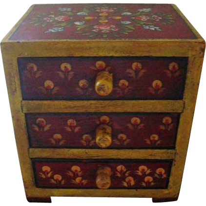 Delightful Hand Painted Chest of Drawers for Bears and Dolls