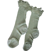 Silk Stockings with Crocheted Trim for Baby or Doll