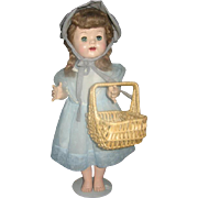 Wicker Market Basket Doll Sized