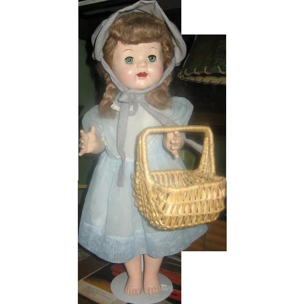 Wicker Market Basket Doll Sized