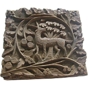 Miniature Carved Box for Treasures or Trinkets